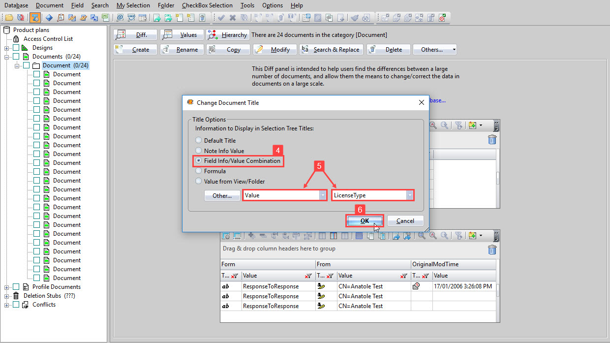 Image of scanEZ's Change Document Title dialog.